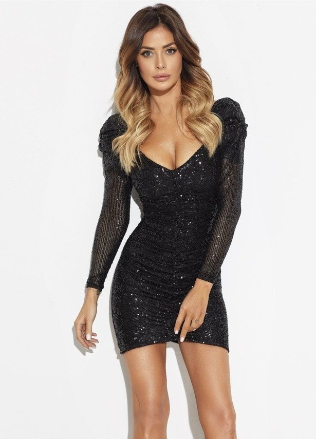 ARIANA BLACK DRESS  | SHEILA SS19