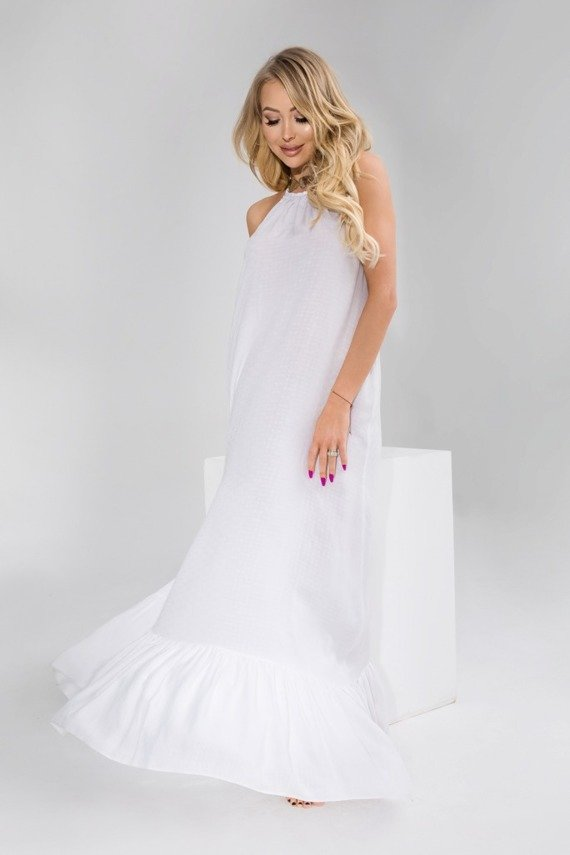 LONG WHITE JUANITA DRESS