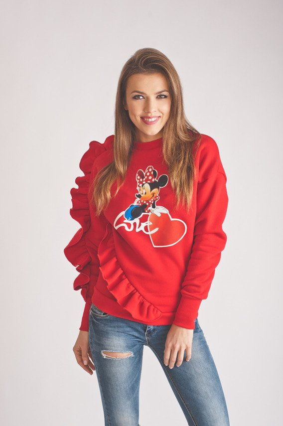 LOVE RED SWEATER