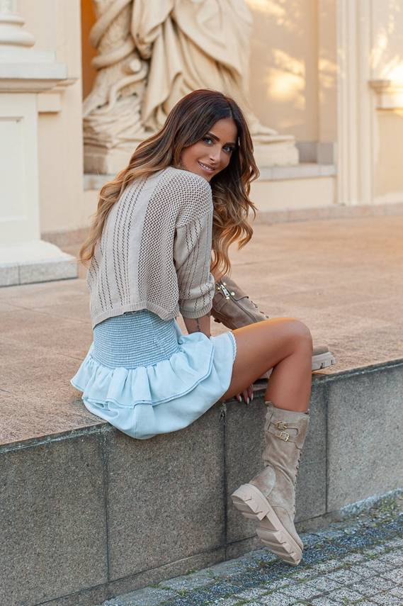 MARLA - JEANS SKIRT WITH RUBBER BELTS