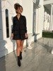 BLACK DRESS WITH LOOSE CUT